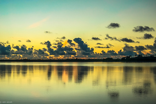 new sea reflection clouds sunrise island dawn guinea png papua flipside manus