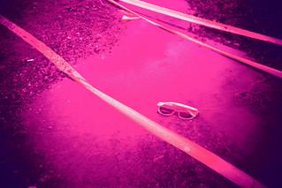 Sunglasses / mud.