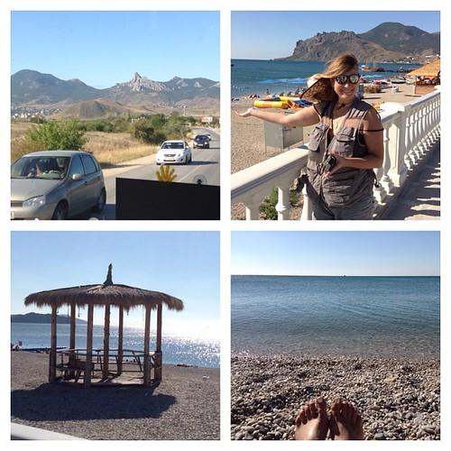 Сегодня - курортный день! Надо же когда-то начинать пляжный сезон))) #крым  #коктебель