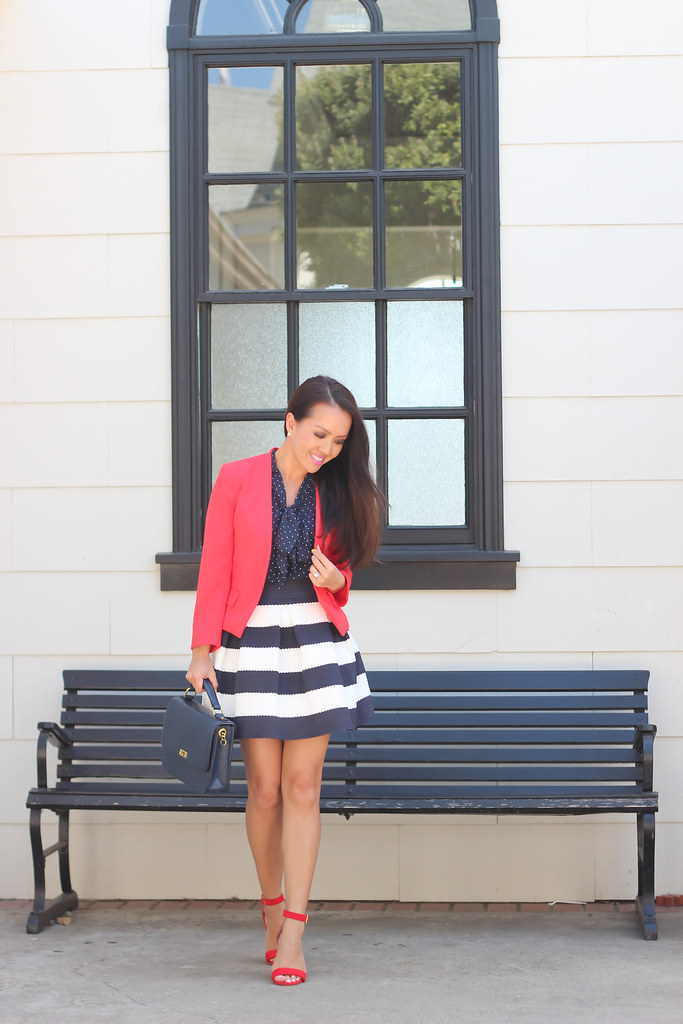 Navy Stripes, polka dots and red-2