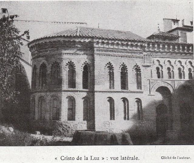Ábside del Cristo de la Luz a comienzos del siglo XX. Fotografía de Élie Lambert publicada en su libro Les Villes d´Art Célebres: Tolède (1925)