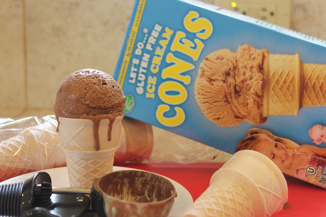 Coconut Ice Cream & Gluten Free Cones