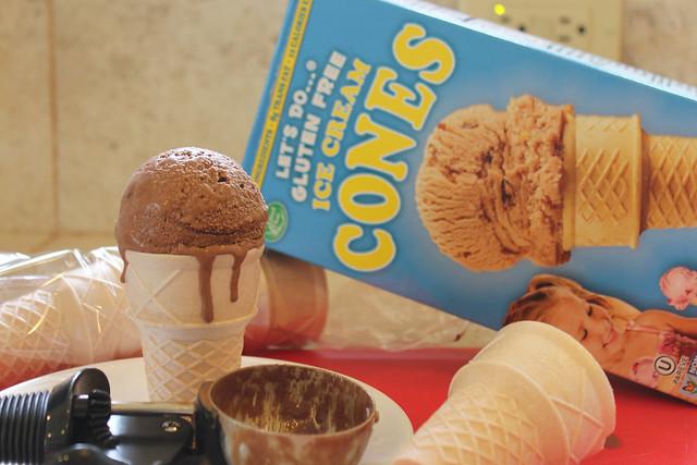 Coconut Ice Cream & Gluten Free Cones
