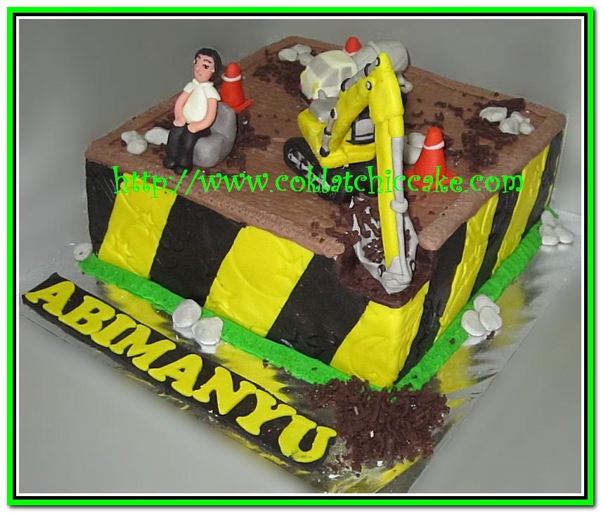 Kue ulang tahun excavator dan molen abimanyu jual kue ulang