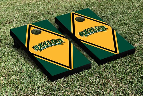 Baylor Bears Cornhole Game Set Script Diamond Logo Version