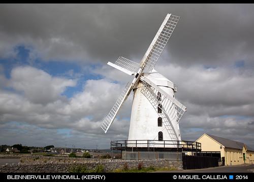 ireland windmill kerry molino tralee irlanda blennerville