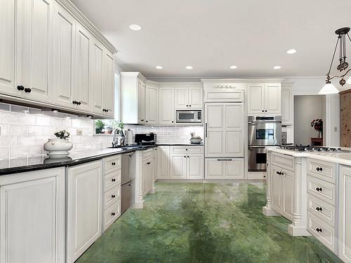 Jade Marble tiles applied at floor
