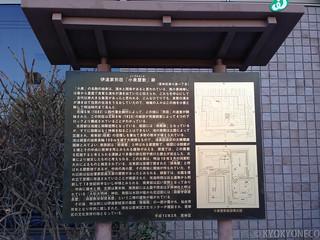 伊達家別荘「小泉屋敷」跡説明板