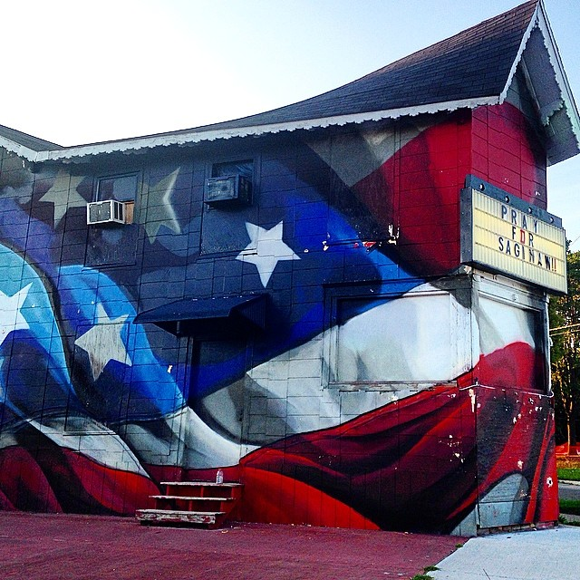 #pray for #Saginaw #michigan #puremichigan #streetart #graffiti