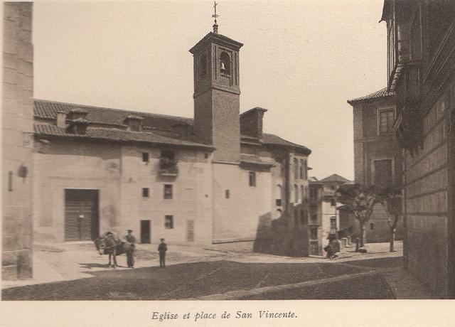 Plaza de San Vicente a principios del siglo XX. Fotografía de Frédéric Boissonnas publicada en el libro L´Espagne, provinces du Nord, de Tolède a Burgos de Octave Aubry en 1930