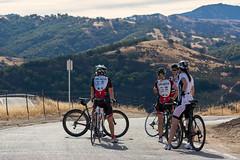 Bicyclists resting near Sierra Vista OSP