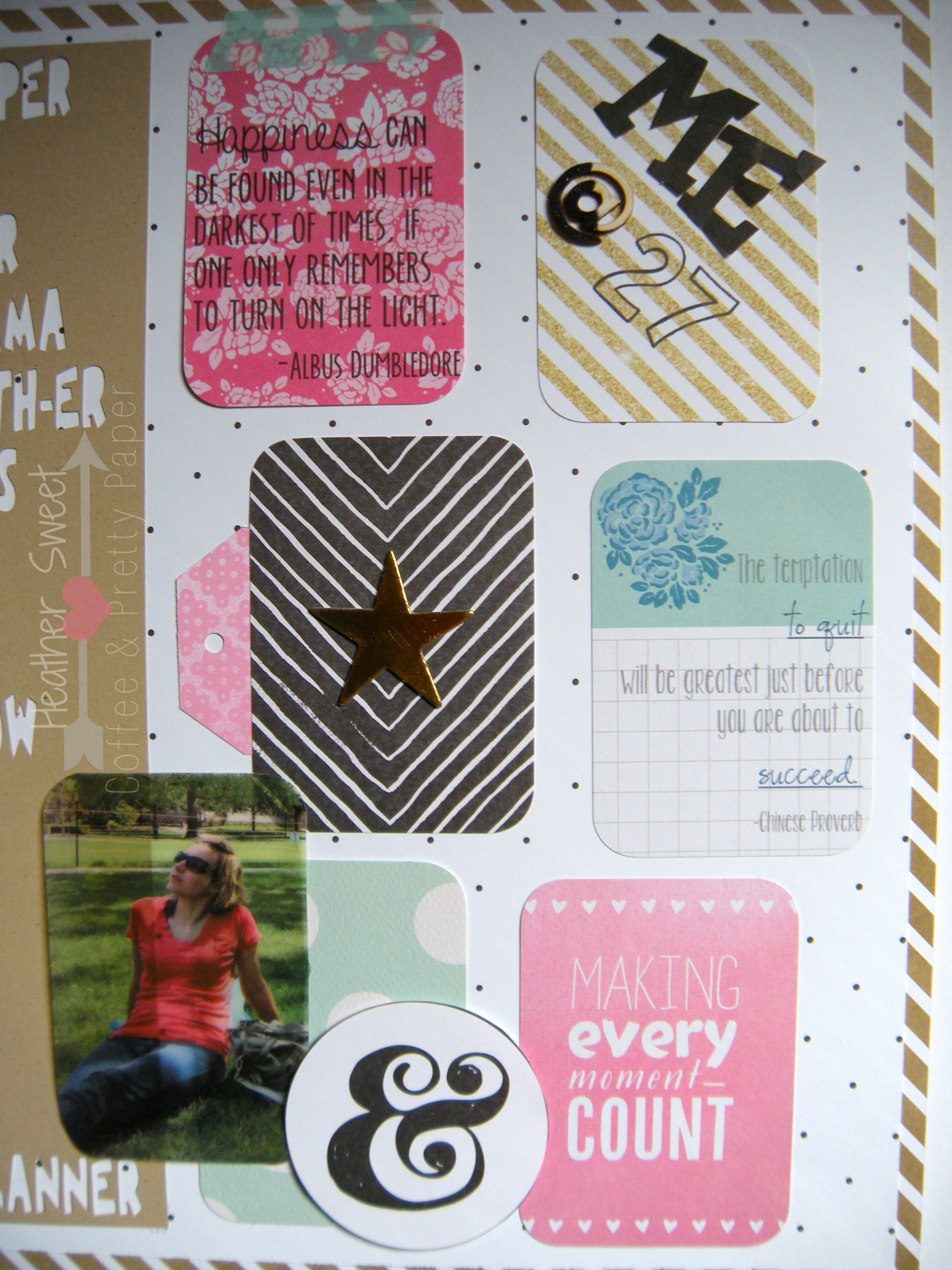 Me @ 27 Layout | Coffee & Pretty Paper