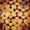triangle log cabin quilt - 19th century // Indiana State Museum
