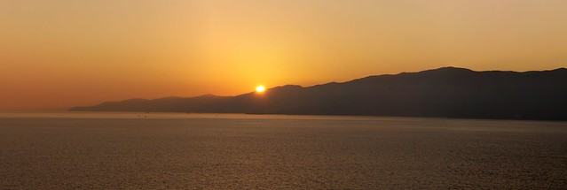 Sunset in Norwegian Fjord