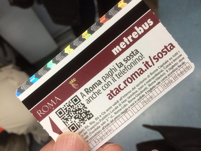 カラフルな切符