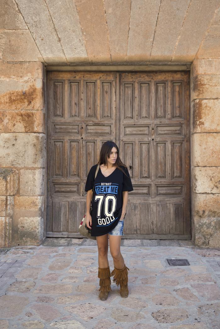 street style barbara crespo ayllon village segovia C&A tshirt the corner shop bag minnetonka fashion blogger outfit blog de moda