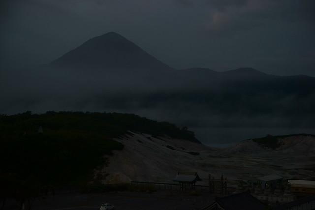 恐山 Osorezan, Aomori Japan, at dawn, 22 Sep 2014. 089