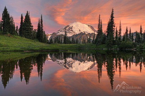 Mount Rainier Sunrise Reflection