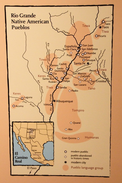 Map of Pueblo indians in New Mexico