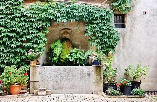 Fontaine - Cour intèrieure du château - Vins sur Caramy (Var)