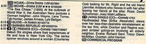 Friends 1994 premiere listing