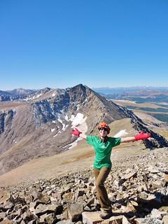 Climbergirl on Crystal Peak