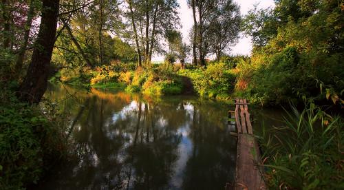 morning bridge light sunrise canon river landscape countryside scenery drohiczyn cesarz marcelxyz