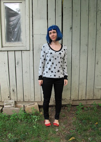 Jamie Jeans + SJ Sweater Made with Mood Fabrics