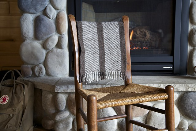 Twill scarf at the cabin