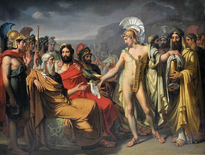 """Rouen (Seine-Maritime) - Musée des Beaux-Arts - """"Achille donnant à Nestor le prix de la sagesse"""" (Joseph-Désiré Court, 1796-1865)"""