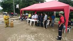 Bomberos evaluaron prácticas de voluntarios comunitarios
