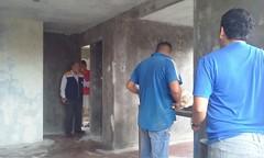 Recorrido en construcción de 16 unidades de viviendas