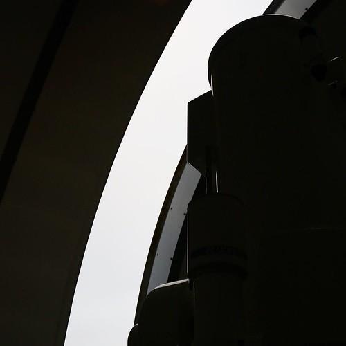 この、天文台の観測用のドームが開くときの、特撮基地感がハンパない。かっこいい。 #赤磐市 #竜天天文台公園
