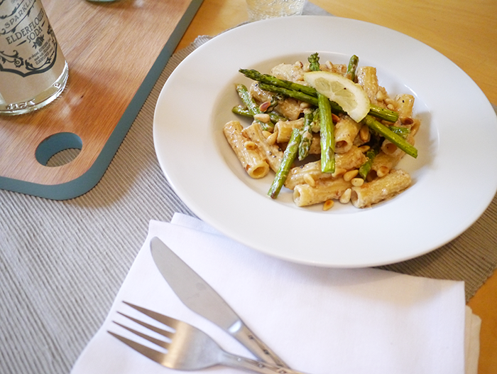 degustabox recipe asparagus and lemon pasta 2