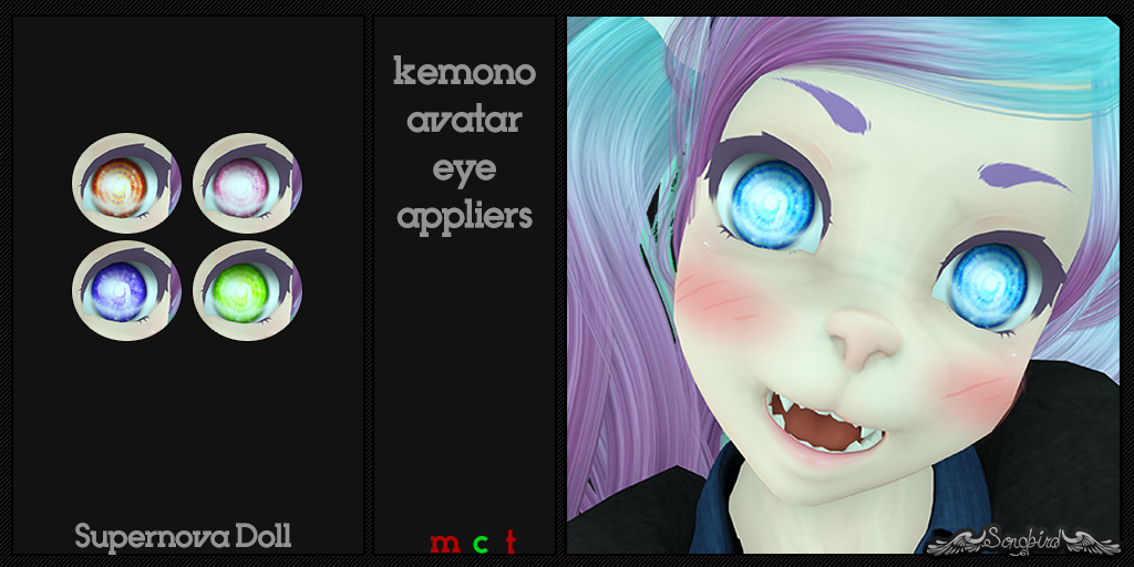 ~SongBird~ Super Nova Doll Eye Mod For Kemono Avatars
