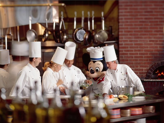 Chefs with Mickey