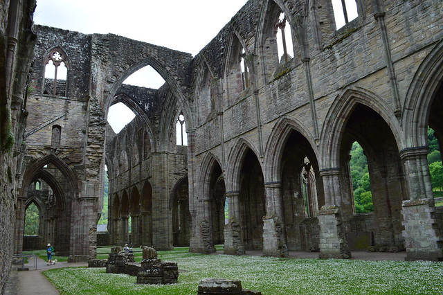 Interior photo of Tintern Abbey in Wales