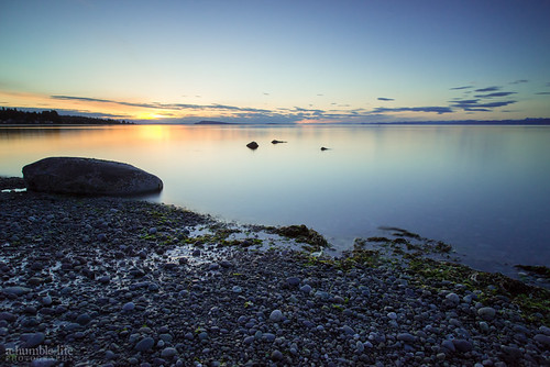 longexposure sunset summer vacation canada beach landscape britishcolumbia victoria qualicumbeach