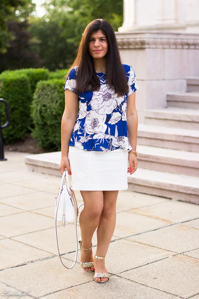 blue floral blouse, white pencil skirt.jpg