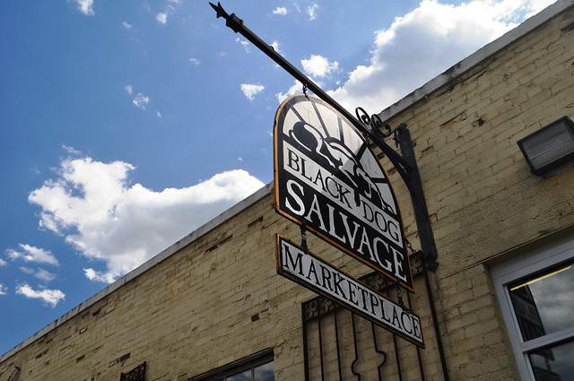 Entering Black Dog Salvage in Roanoke, Va.