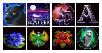 free Panther Moon slot game symbols