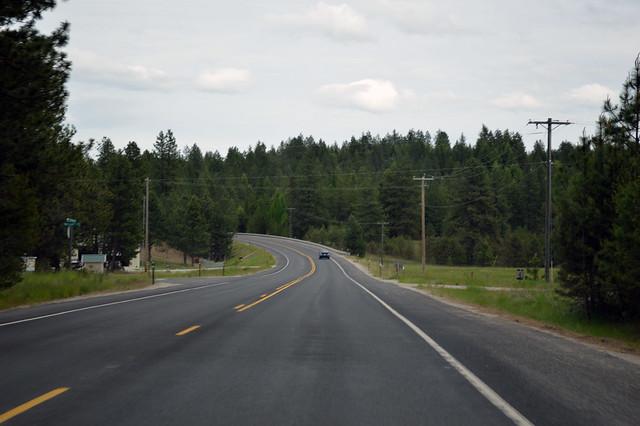 SR 292 west of Loon Lake