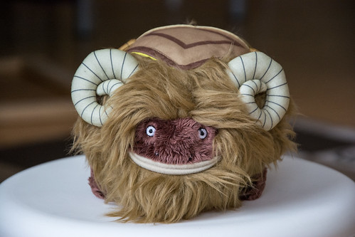 Bantha plushie from Star Wars