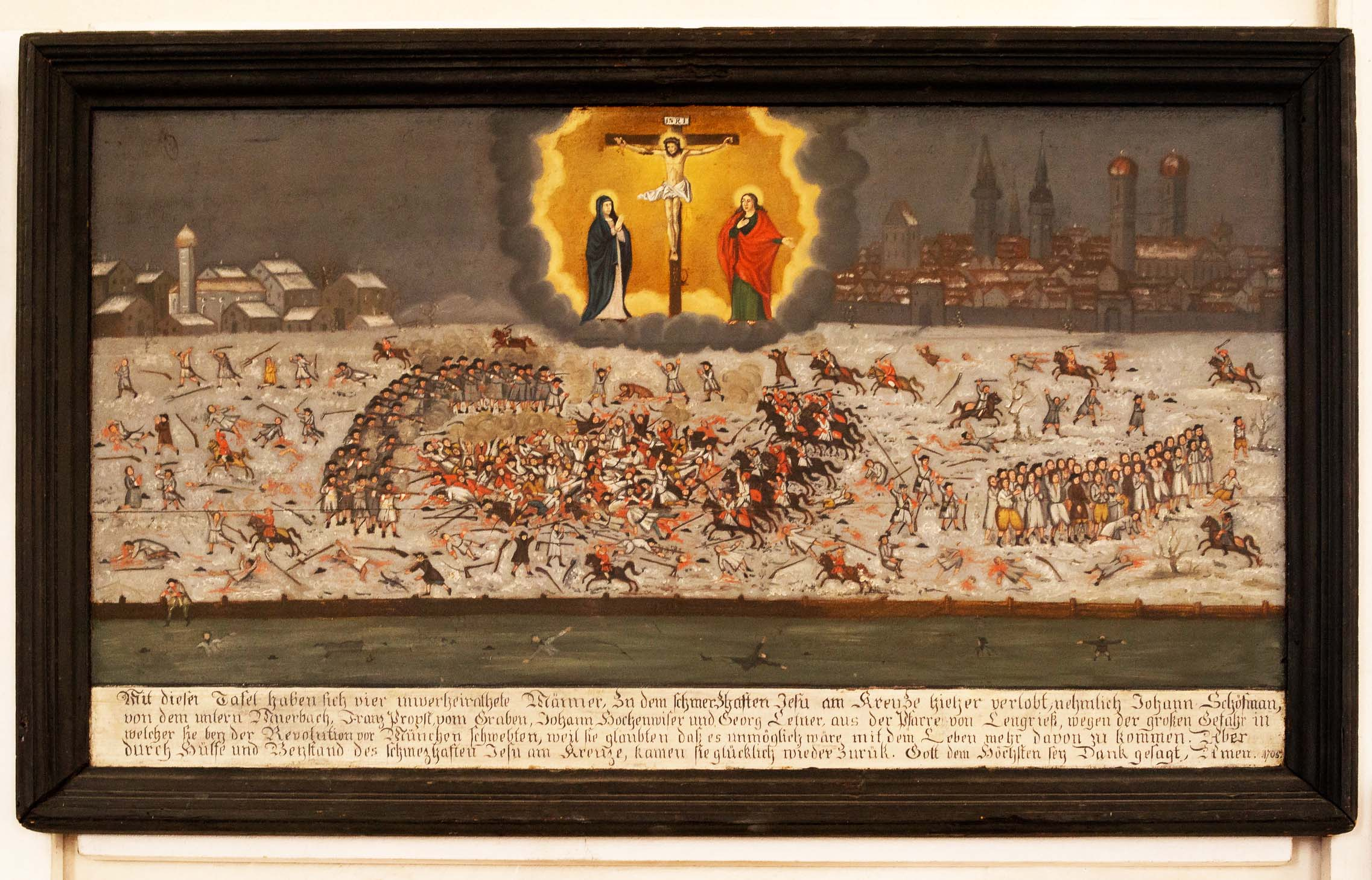 Sendlinger Mordweihnacht 1705, Kalvarienberg Lenggries, Kapelle zum schmerzhaften Jesu am Kreuze, 11. Februar 2014