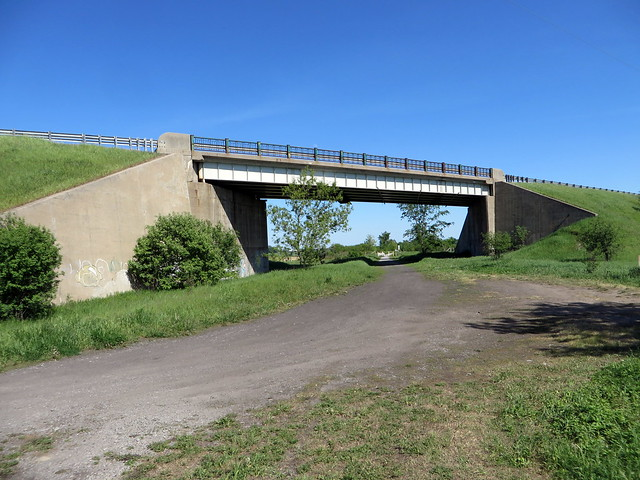Highway 36 bridge leaving Lindsay