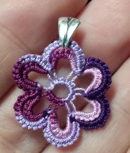 Flower Pendant Purple Splendor