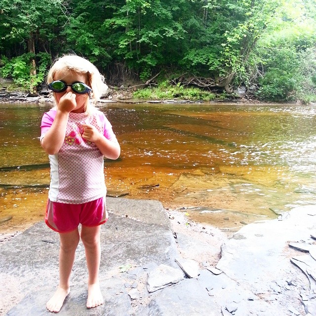 Addie's ready for an #Adirondack #swim.