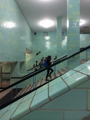 European Instagram meetup #EverchangingBerlin_Alexanderplatz station stairs