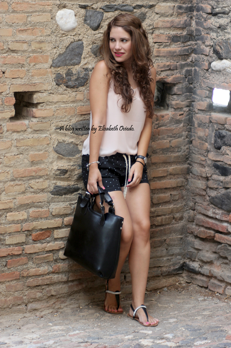 Shorts topos verano Oasap HEELSANDROSES (2)