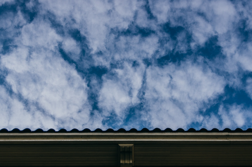 Sky and roof